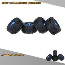 4Pcs/Set 1/10  Monster Truck Tire Tyres for Traxxas HSP Tamiya RC Model Car O1P6