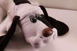"Vintage Tonka Pound Puppies 18"" White Puppy Dog Plush with Dark Brown Spot 1985?"