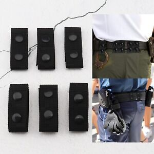 6Pcs Duty Nylon Tactical Belt Keeper Set with Double Snap Button for 2-2.25 Inch
