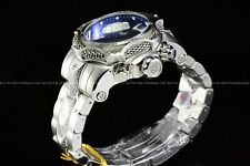 New Invicta 53mm Reserve VENOM Swiss Chrono Blue Dragon Silver Bracelet SS Watch