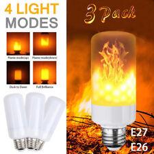 3 Pack LED Flamme-Effekt-simulierte Natur-Feuer-Glühlampe-E27 5W Dekoration-Lamp