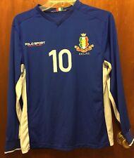 Men POLO SPORT RALPH LAUREN Blue White L/s Italia 10 Athletic Jersey Small? EUC