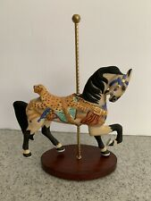 Leopard Saddle Horse Franklin Mint Carousel