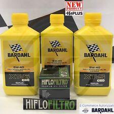 3 Litri Olio BARDAHL XTS XT-S C60 5W40 mPlus Fullerene Polarplus + Filtro HIFLO