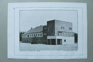 BB1) Bauhaus Architektur Otto Bartnig Weimar 1928 Ruppiner See Kreiskinderheim