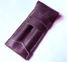 fountain pen bag ballpoint cow Leather Customize holder handmade purple z512-2