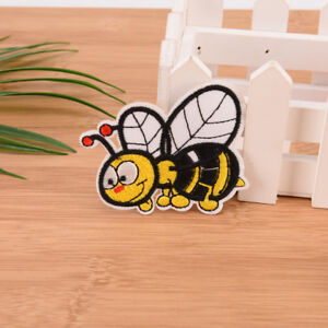bee embroidered sew iron on patches set badge bag fabric applique craft DIY S^lk