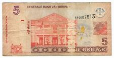 5 DOLLARS SURINAME 1-1-2004