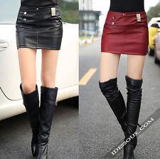 Unifarbene Damenröcke im asymmetrischen Stil für die Freizeit