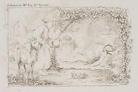 Erotische Szene aus Boccaccios Decamerone, Einsiedlerin Alibech, Radierung