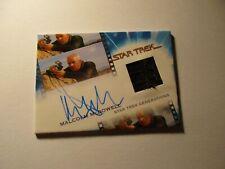 Star Trek Inflexions Starfleets Finest Malcolm McDowell as Soran Autograph Relic