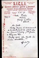 """SAINT-OUEN (93) EXTINCTEURS de SECOURS """"Ets SACHS / Ets. SICLI Succ"""" en 1929"""