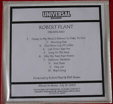 ROBERT PLANT - Dreamland . Original US PROMO CD Album . RARE Led Zeppelin