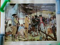 THE NATIONAL GUARD HERITAGE HISTORY PRINT~THE WHITES OF THEIR EYES!~BUNKER HILL