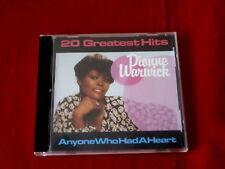 DIONNE WARWICK~ 20 GREATEST HITS~ ANYONE WHO HAD A HEART~ RARE ~SOUL~CD