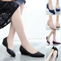US 6.5-9 Womens Summer With Low-cut Uppers Pointed Toe Casual Slip On Work Shoes