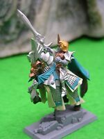 WARHAMMER AGE OF SIGMAR HIGH ELF NOBLE PRINCE MOUNTED #1 PAINTED