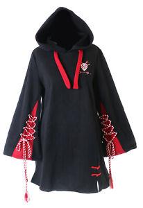 TS-209 Schwarz rot Bänder Rentier Japan Kapuzen-Pullover Sweatshirt Harajuku