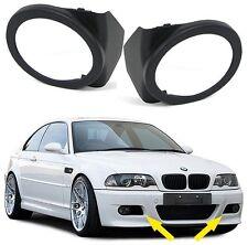 Pour BMW E46 avant M Sport M3 Pare-Choc Super Noir Phare Antibrouillard