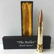 50 Cal Caliber Bullet Bottle Opener Shiny .50 Metal Shell Gun Ammo Gift Box