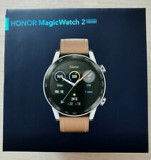 Huawei Honor MagicWatch 2 Brown Leather Global Version plus one free watch strap