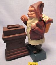 Heavy SANTA CLAUS BANK CHRISMAS Cast Iron Old Store Inventory Painted