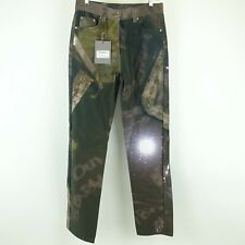 Kim Kardashian West SERAPIS MARITIME Green Printed Straight Leg Pants Size L NWT