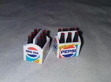 Tomy Dollhouse Vintage 2-6 Packs of Pepsi Cola Bottles Cases 1:16 Scale Plastic