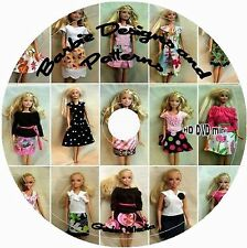Barbie Patterns 1000+ Original Doll Sewing Knit Crochet Ken Skipper on CD DVD