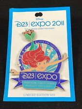 Disney Pin - D23 Expo 2011 - The Little Mermaid - Ariel - Logo LE 500