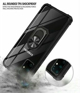 Armor Phone Case for Samsung S20 S21 PLUS ULTRA Anti-shock Ring Stand Back Cover