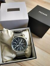 Pulsar Military RAF Pilots Style Civilian Issue Chronograph Watch Boxed 100m