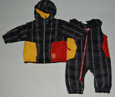 NWT Infant Boys 0-6 Mo Obermeyer Black Plaid Winter Jacket/Coat & Snowpants $149