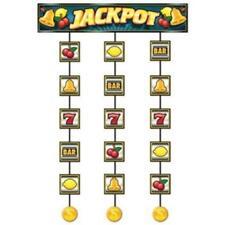 Slot Machine Jackpot Stringer Casino Vegas Gambling Party Hanging Decoration