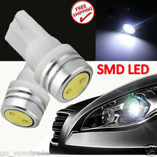 2x 1W T10 168 194 W5W SMD LED Car Tail Wedge Light Lamp Bulb 12V Xenon White