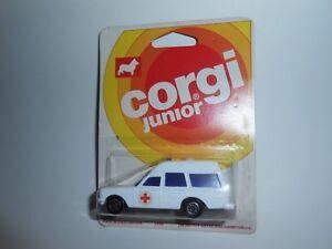 VTG 1976 CORGI JUNIOR MERCEDES BENZ 2200 BINZ AMBULANCE MOC GT BRITAIN HTF