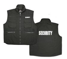 Rothco 7457 Black Embroidered Ranger Security Vest