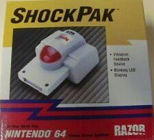 BLINKING LIGHT UP LED RUMBLE TREMOR VIBRATION SHOCK PAK PACK N64 NINTENDO 64 NEW
