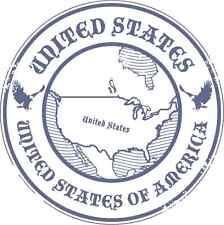 "United States Travel Car Bumper Sticker Decal 5"" x 5"""