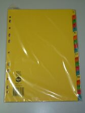 Marbig 20 Tab Manilla Bright Dividers 37170 A4 file dividers indices document