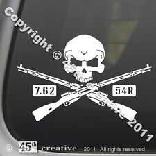 Mosin Nagant M91/30 Crossbones Decal WWII Russian military rifle 7.62x54R soviet
