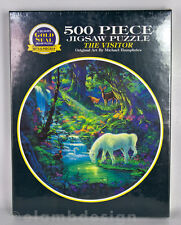 Gold Seal The Visitor Michael Humphries Unicorn Fantasy Jigsaw Puzzle 500 pc New