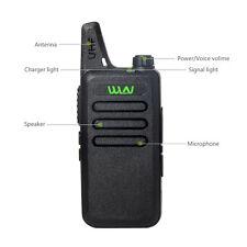 Black Mini-handheld Walkie Talkie Wln Uhf 400-470 Mhz 2-way Amature Ham Radio