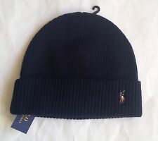 Polo Ralph Lauren Signature Marino Cuff Hat Hunter Navy 23765096