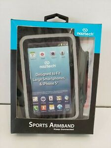 Black Water-Resistant Neoprene Universal Sports Armband for Smart Phone T