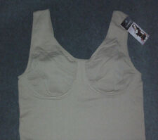 J.C.BEST: Size: L.(10-12) Shapewear - NUDE Underwire, Vertical SeamFree Tank-Top