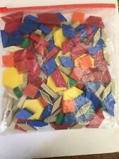 Large lot geometric manipulatives pattern blocks - plastic