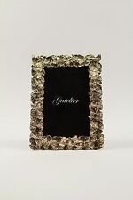 Picture Frame - Ginkgo 4x6 in plated Titanium Gold  with wooden back