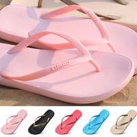 Summer Women Flat Jelly Flip Flops Ladies Toe Post Beach Pool Sandal Comfy Shoes