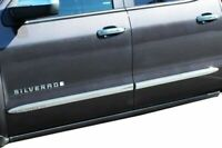 "1999-2006 Chevy Silverado GMC Sierra 1500 (Crew Cab) Chrome Bodyside Molding 2"""